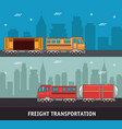 freight transportation and delivery logistics vector image