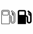 fuel icons set vector image vector image