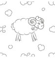 funny sheep flying in the sky vector image vector image