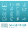 gadget outline icons vector image
