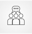 group icon sign symbol vector image