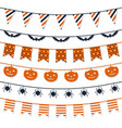 halloween garland collection festive decorations vector image