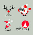 happy merry christmas collection design vector image vector image