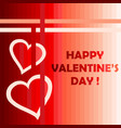 happy valentines day card with two hearts vector image