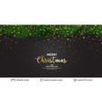 holiday banner with fir tree border and stars vector image vector image