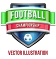 Label for football sport competition Bright vector image vector image