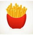large french fries on white background vector image vector image