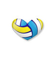love volleyball object vector image vector image