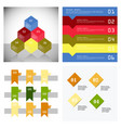 modern strips infographics 10 options banner for vector image vector image
