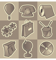 Monochrome miscellaneous icons vector image vector image
