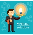 Optimal solutions concept vector image vector image