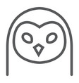 owl line icon animal and zoo bird sign vector image vector image