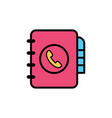 phone book flat icon sign symbol vector image vector image
