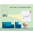 Presentation room with projector and comfortable vector image vector image