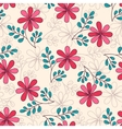 Seamless Pattern Doodle Flowers vector image vector image