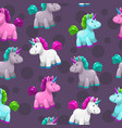 seamless pattern with cute cartoon colorful vector image