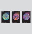 set of abstract trendy backgrounds vector image vector image