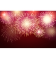 set of isolated fireworks on a transparent vector image vector image