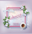 spring advertising banner vector image vector image