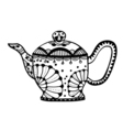 Teapot isolated vector image vector image