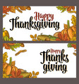 template for greeting card and poster thanksgiving vector image vector image