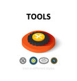 Tools icon in different style vector image