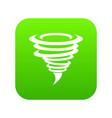 tornado icon digital green vector image vector image