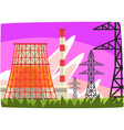 traditional energy generation power station vector image vector image
