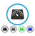 weight meter rounded icon vector image vector image