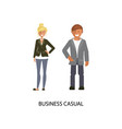 business casual style vector image