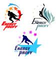 logos hockey theme vector image