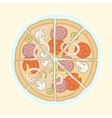 Pizza cut into slices vector image