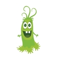 Cartoon Green Monster Funny Smiling Germ vector image