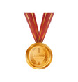 championship first place golden medal vector image