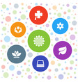 7 flower icons vector image vector image