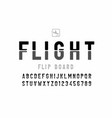 airport flip board panel style font design vector image vector image