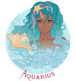 astrological sign aquarius as a african girl vector image vector image