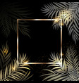beautifil palm tree leaf golden silhouette vector image