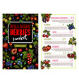 berry and fruit banner for price list template vector image vector image