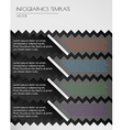 black infographics on white background vector image vector image