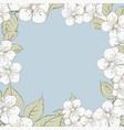 blooming sakura rectangle frame vector image vector image