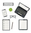 business flat on white background vector image