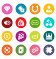 casino icons set colorful circles vector image vector image