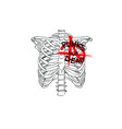 chest skeleton with anarchy symbol punks not dead vector image