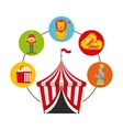 circus show design vector image vector image