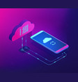 cloud connection isometric 3d concept vector image vector image