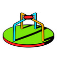 colorful merry-go-round icon icon cartoon vector image vector image