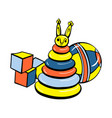 cube toys icon cartoon style vector image