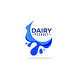 daily product milk cream logo label emblem vector image vector image