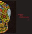 day dead sugar skull mexican decoration vector image vector image